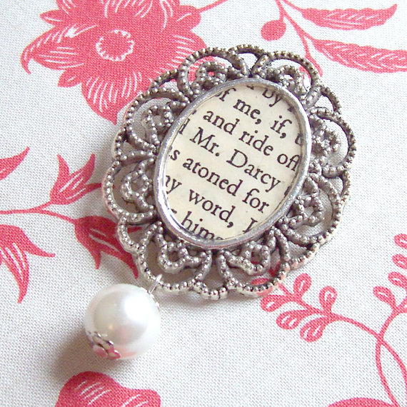 image mr darcy brooch two cheeky monkeys jane austen pride and prejudice bridal wedding white pearl
