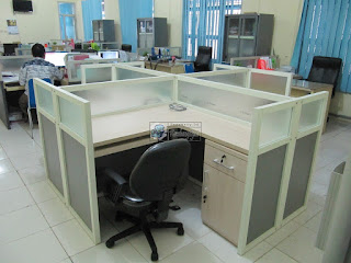 Cubicle Workstation Asli Original Sesuai Standard (Furniture Semarang)