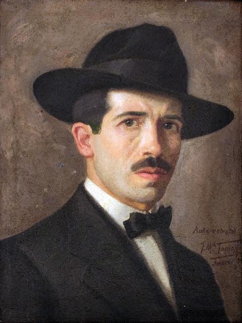 José María Tamayo Serrano, Self Portrait, Portraits of Painters, Fine arts, José María Tamayo