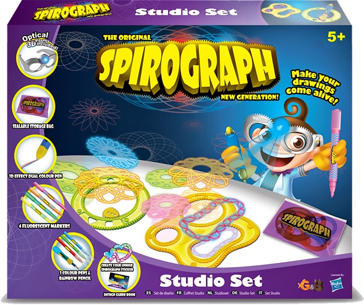 , Win 1 of 5 Spirograph Optical 3D Artist Sets