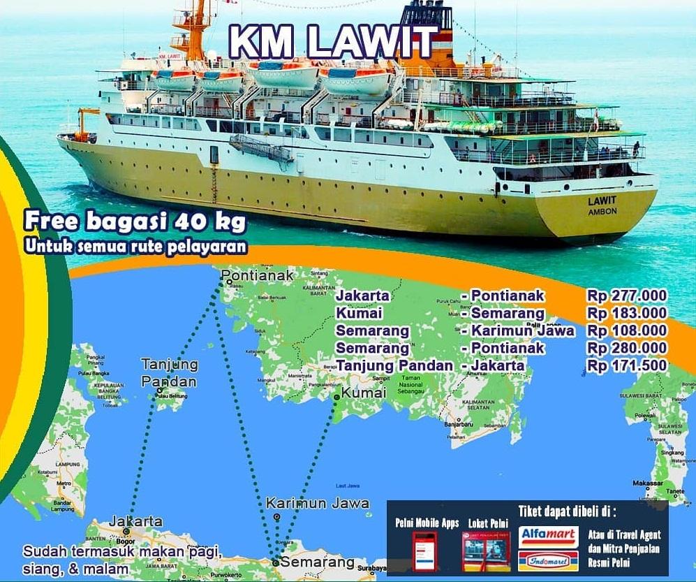 Jadwal Kapal Laut Pelni Lawit Desember 2020 Asuransi Perjalanan