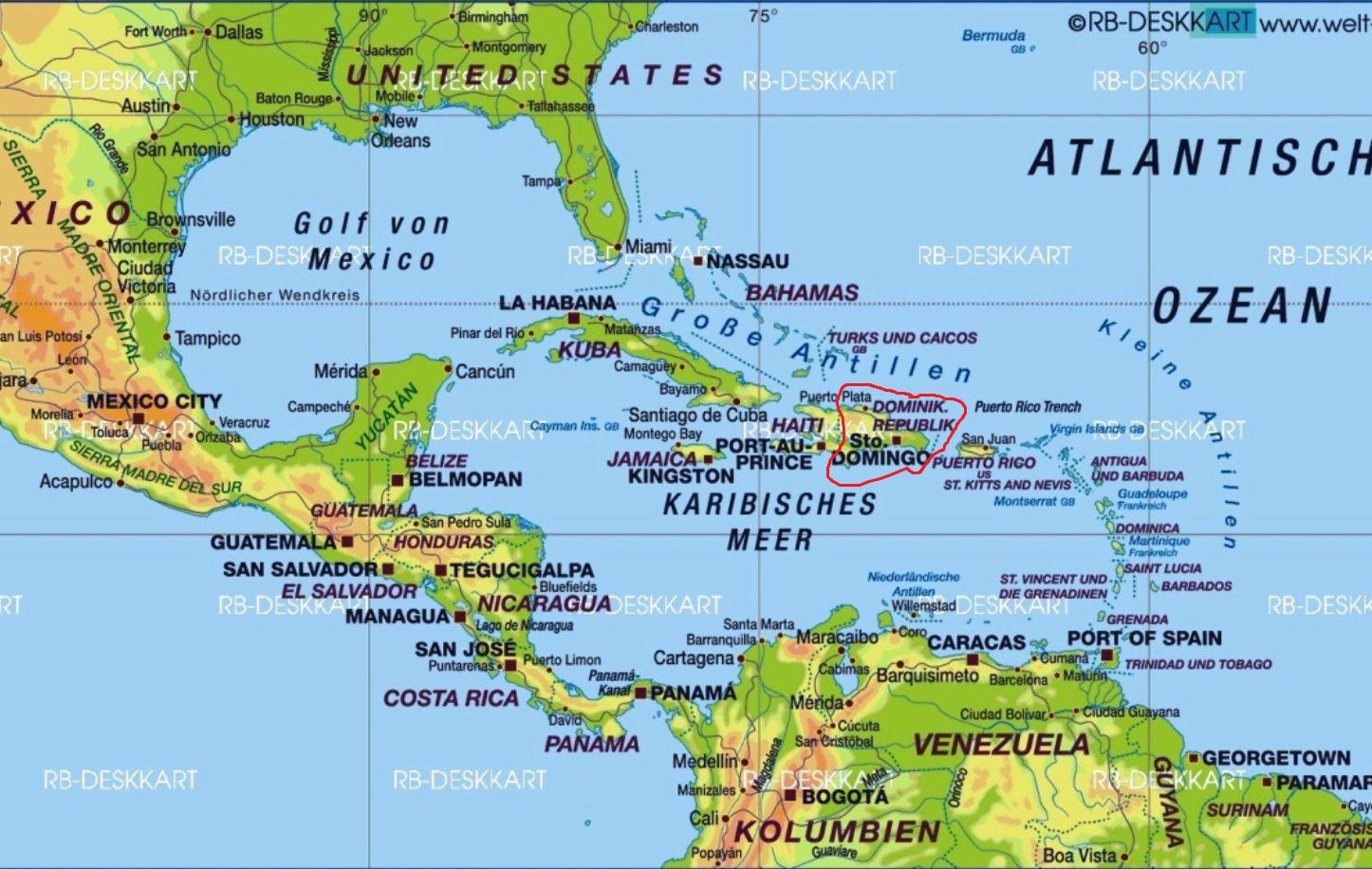 Karibik Karte.Die Dominikanische Republik Mein Freiwilligendienst In Der Karibik