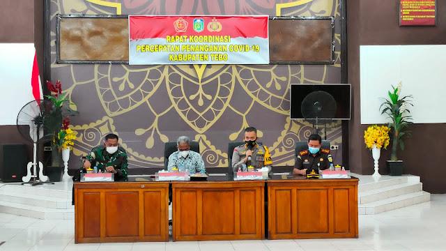 Kapolres Tebo Pimpin Rapat Percepatan Penyerapan Anggaran Covid-19 Serta Pemulihan Ekonomi Nasional