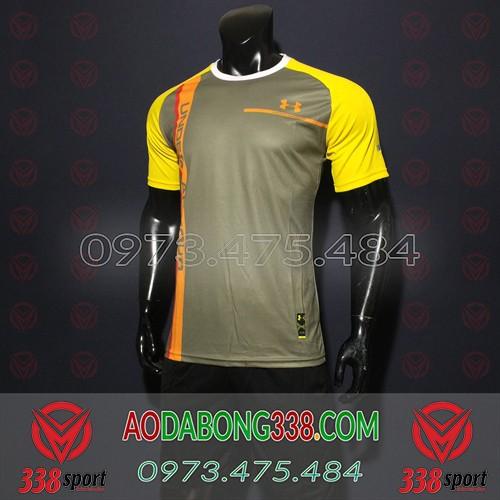 Áo Đá Bóng Không Logo Under Armour Vàng Đồng