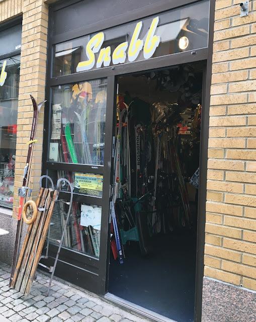 Butikken Snabb i Gøteborg der du kan leie/kjøpe sportsutstyr
