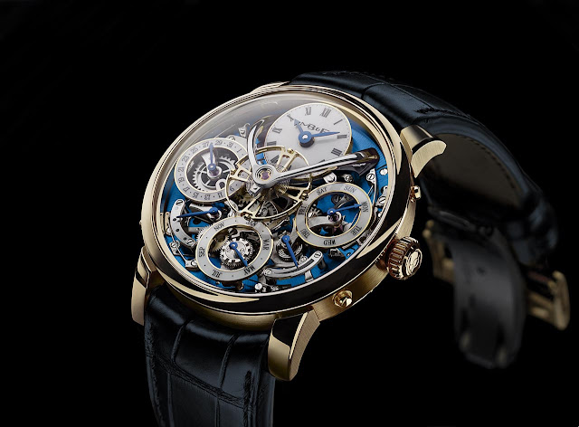MB&F Legacy Machine Perpetual in Yellow Gold
