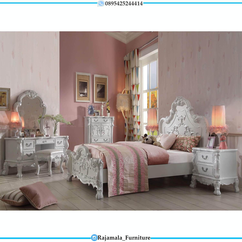 Tempat Tidur Anak Mewah Putih Duco Ala Princes Kerajaan Kuno RM-0435