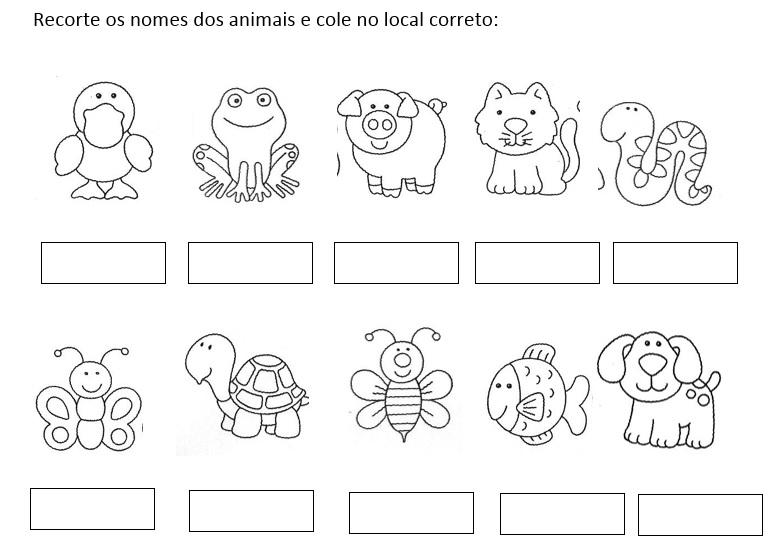 Animais Ingles Para Criancas Hora De Colorir Atividades