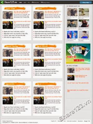News 14 - Mẫu Template blogspot đẹp và chuyên nghiệp