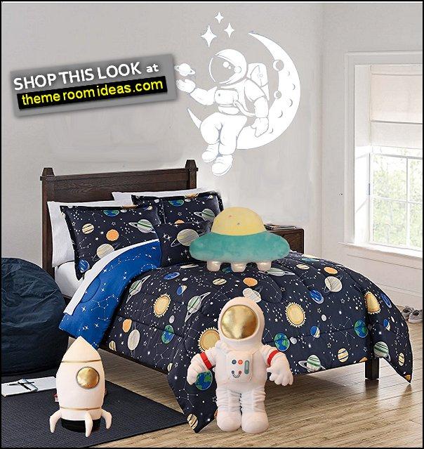Astronaut Wall Decal outer space bedding Astronaut plush pillow  Rocket ship pillow toys  UFO Pillow Plush