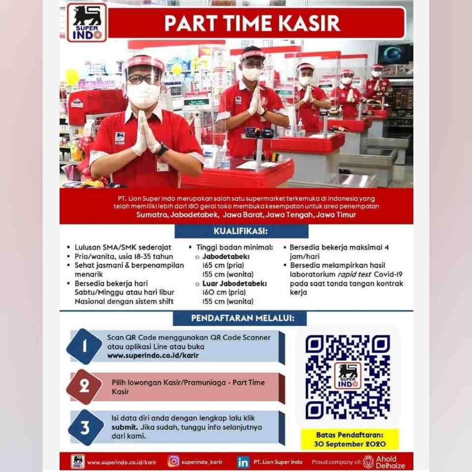Lowongan Part Time Kasir Pt Lion Super Indo Bandung 2021