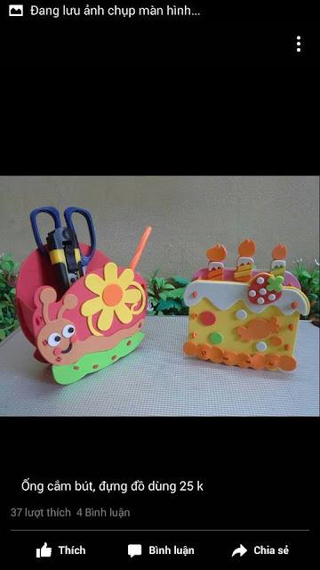 Ide membuat tas menggunakan bahan dasar foam  berbentuk siput dan kue tart