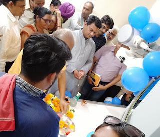 सामुदायिक स्वास्थ्य केंद्र पर डिजिटल एक्सरे मशीन का शुभारंभ किया
