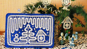 Bonito cuadro con diseño de navidad al crochet