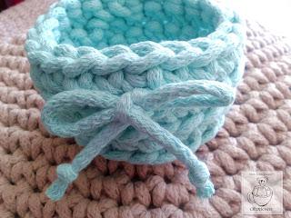 Koszyczek miętowy - sznurek bawełniany