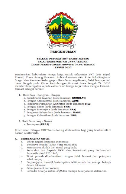 Rekrutmen Lowongan Kerja SMP SMA SMK D3 D4 S1 Kementrian Perhubungan Tahun 2020