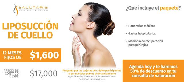 Liposuccion de Cuello Precio de Paquete de Liposuccion de cuello en Guadalalajara