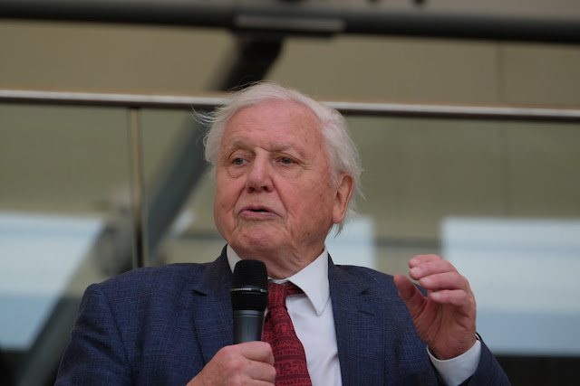 Sir David Attenborough officially opens Battersea ABA Rare Book Fair