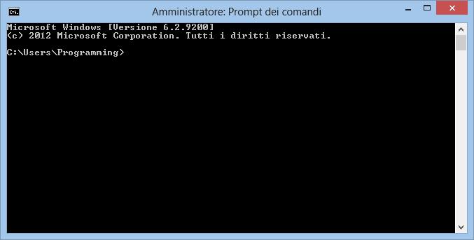 Directory di default del Prompt dei Comandi