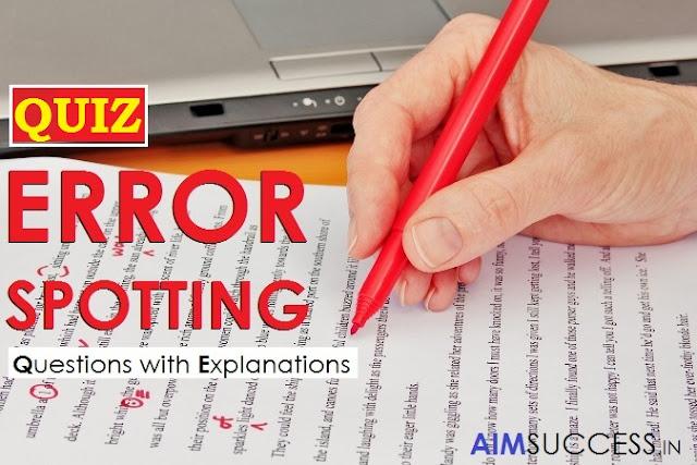 Error Detection SBI Exams: 15 March 2018