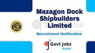 MDL Recruitment Notification 2019, govt jobs in india, Latest MDL Recruitment update