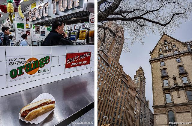 Hot dog do Gray's Papaya, em Nova York