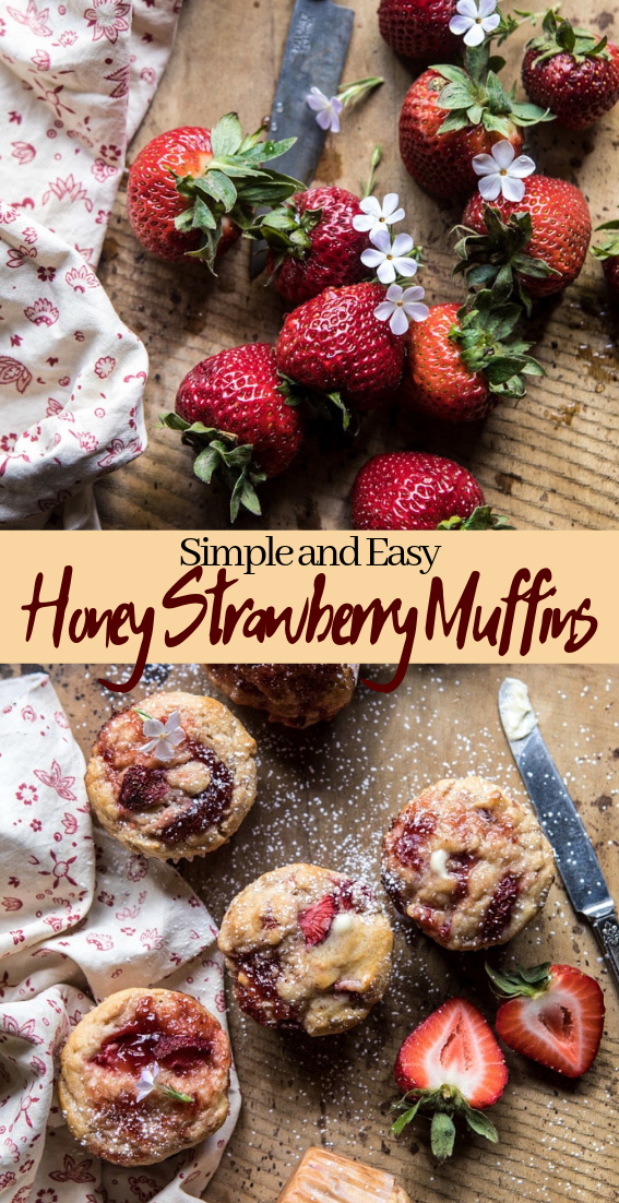 Honey Strawberry Muffins #desserts #cakerecipe #chocolate #fingerfood #easy