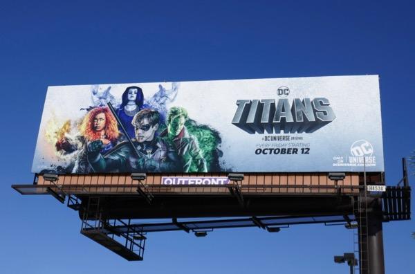 DC Titans series premiere billboard