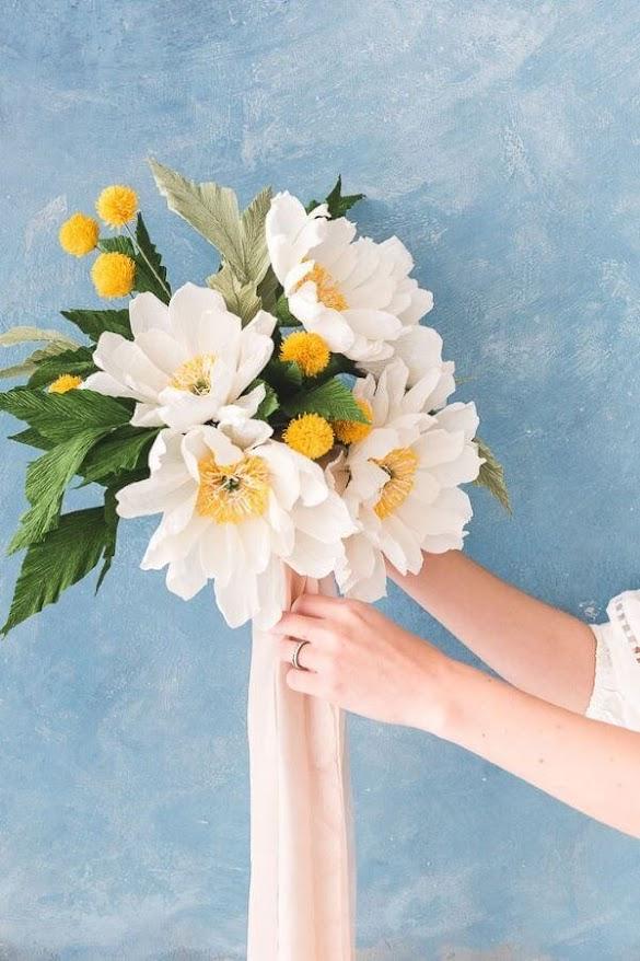 Tissue paper flowers for home decor