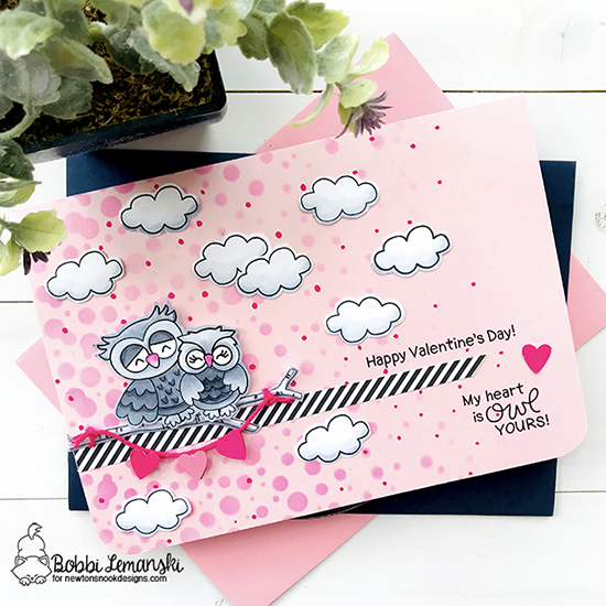 My heart is owl yours by Bobbi features Love Owl-ways, Bubbly, Raccoon Rascals by Newton's Nook Designs; #newtonsnook