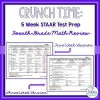 Fourth Grade Math STAAR Texas Test Prep Plan