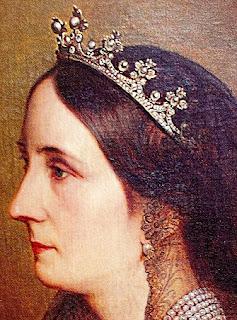 Countess of Flanders' Pearl & Diamond Tiara worn by Princess Josephine