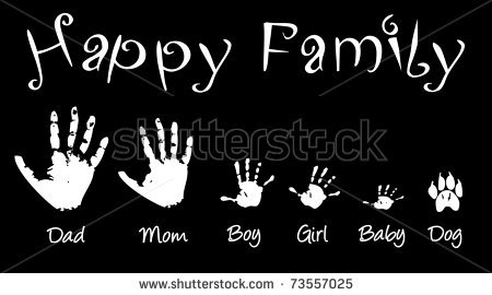 Shutterstock Pic 73557025 Stock Photo Hand Prints Of Whole Family Also Available As Vector