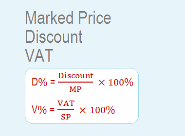 Marked Price, Discount and VAT