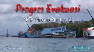 Progres Evakuasi KMP Dharma Rucitra III (Tahap Pengapungan)