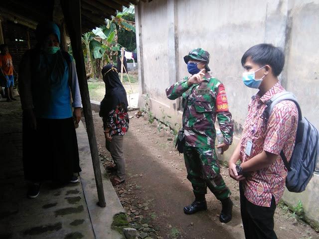 Antisipasi DB Babinsa Jatinom  dan Bidan Desa Patroli Jentik