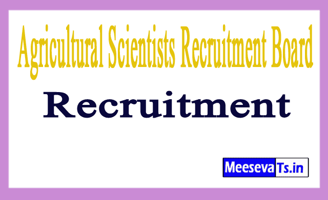 Agricultural Scientists Recruitment Board ASRB Recruitment