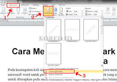 Membuat Watermark di Word