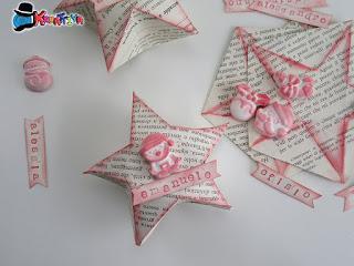 stella 3d origami con gessetti profumati