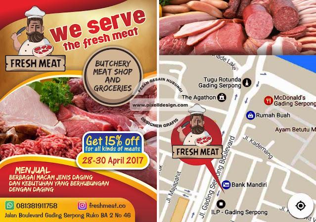 Iklan Brosur Promosi Makanan Daging