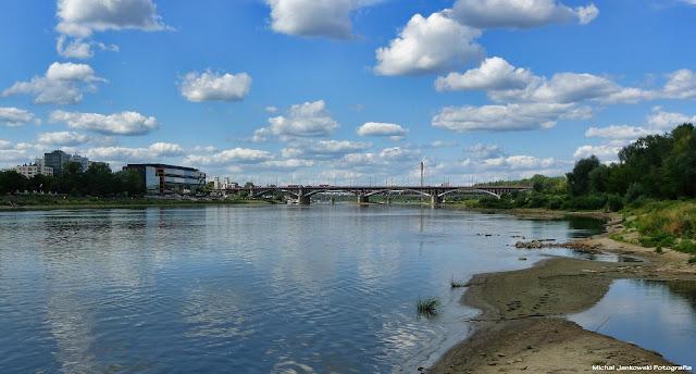 Warszawska Wisła Most Poniatowskiego Wisła w Warszawie 2017