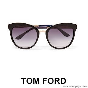 Meghan Markle style - TOM FORD Cat-eye acetate and gold-tone sunglasses