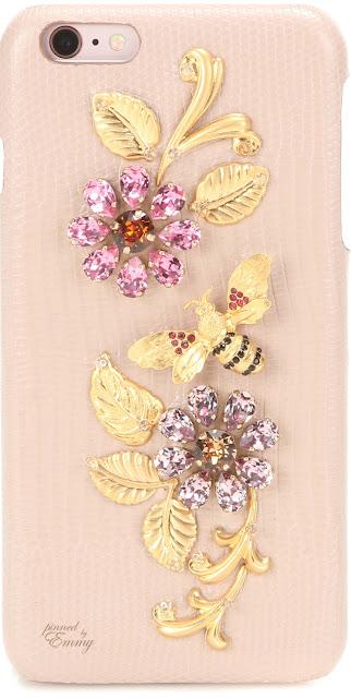 Brilliant Luxury ♦ Dolce & Gabbana embellished leather iPhone 6 Plus case