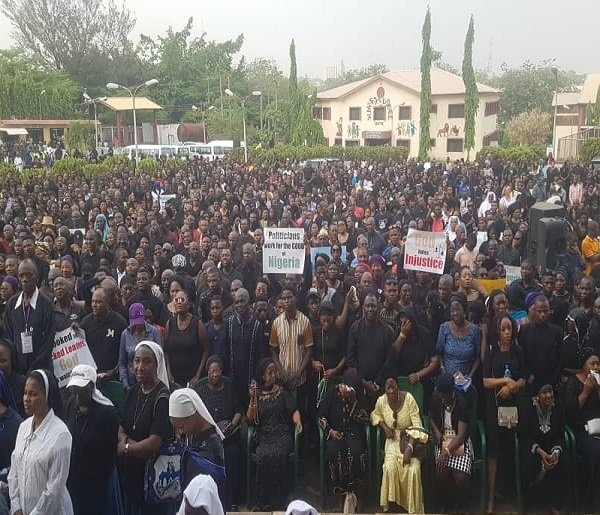 Catholic Church members hit the streets of Abuja over nationwide killings