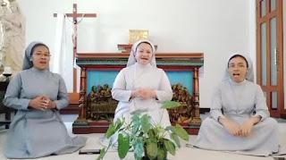 Tiga Suster Katolik Nyanyikan Lagu  Selamat Lebaran