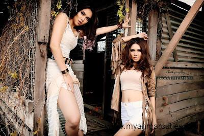 outdoor portrait of Aye Myat Thu & May