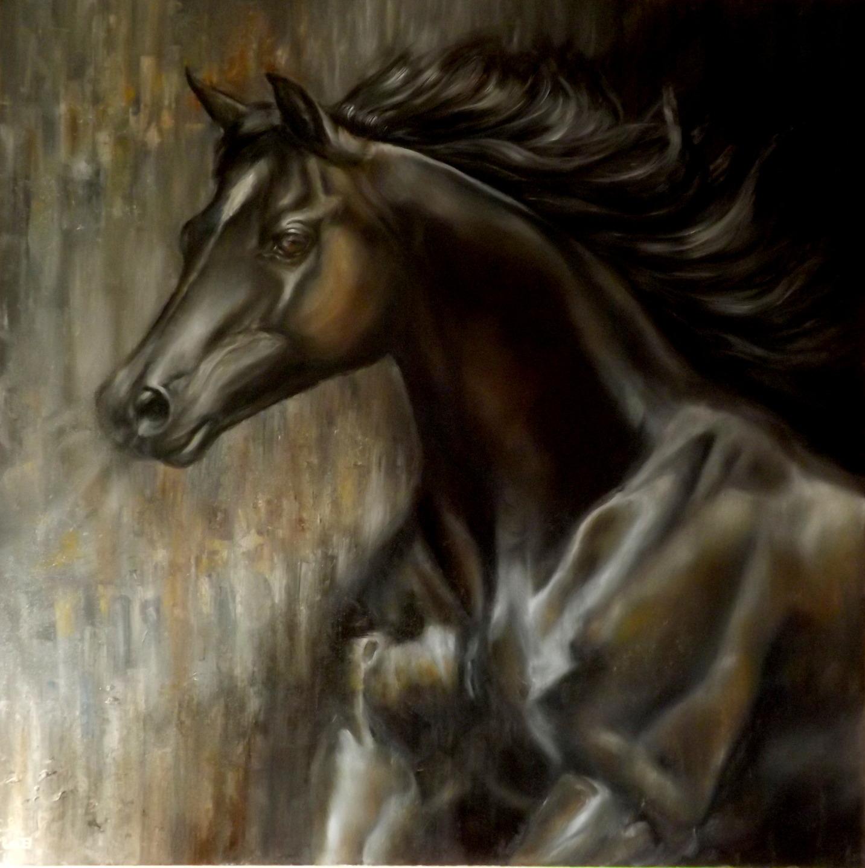Pinturas de cavalos selvagens