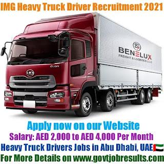 IMG Heavy Truck Driver Recruitment 2021-22