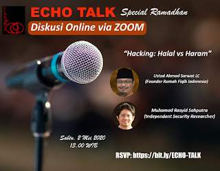 Jadwal Echo Talk Spesial Ramadhan Tentang Hacking - Halal vs Haram - Kajian Islam Tarakan