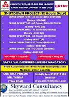 CRANE OPERATORS VACANCY INTEGRATED COMPANY